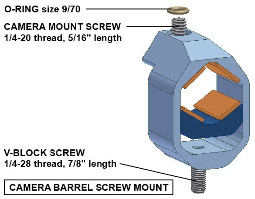 Camera barrel screw mount diagram