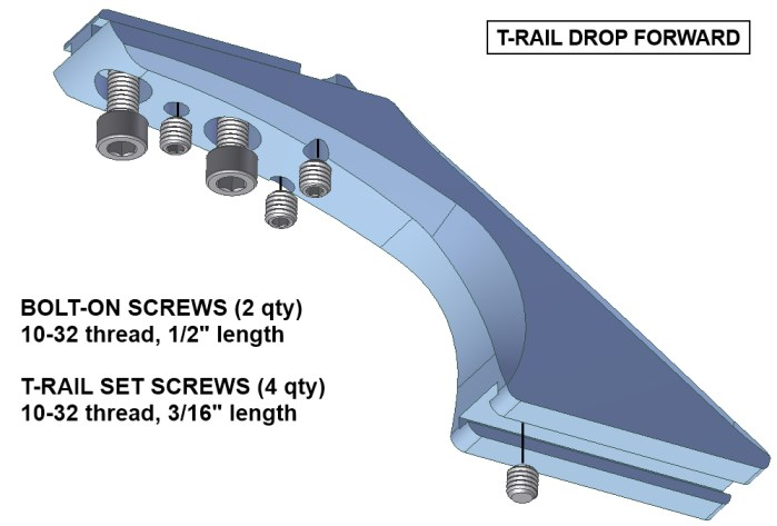 T-rail drop forward diagram