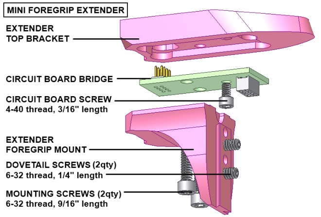Mini foregrip extender diagram
