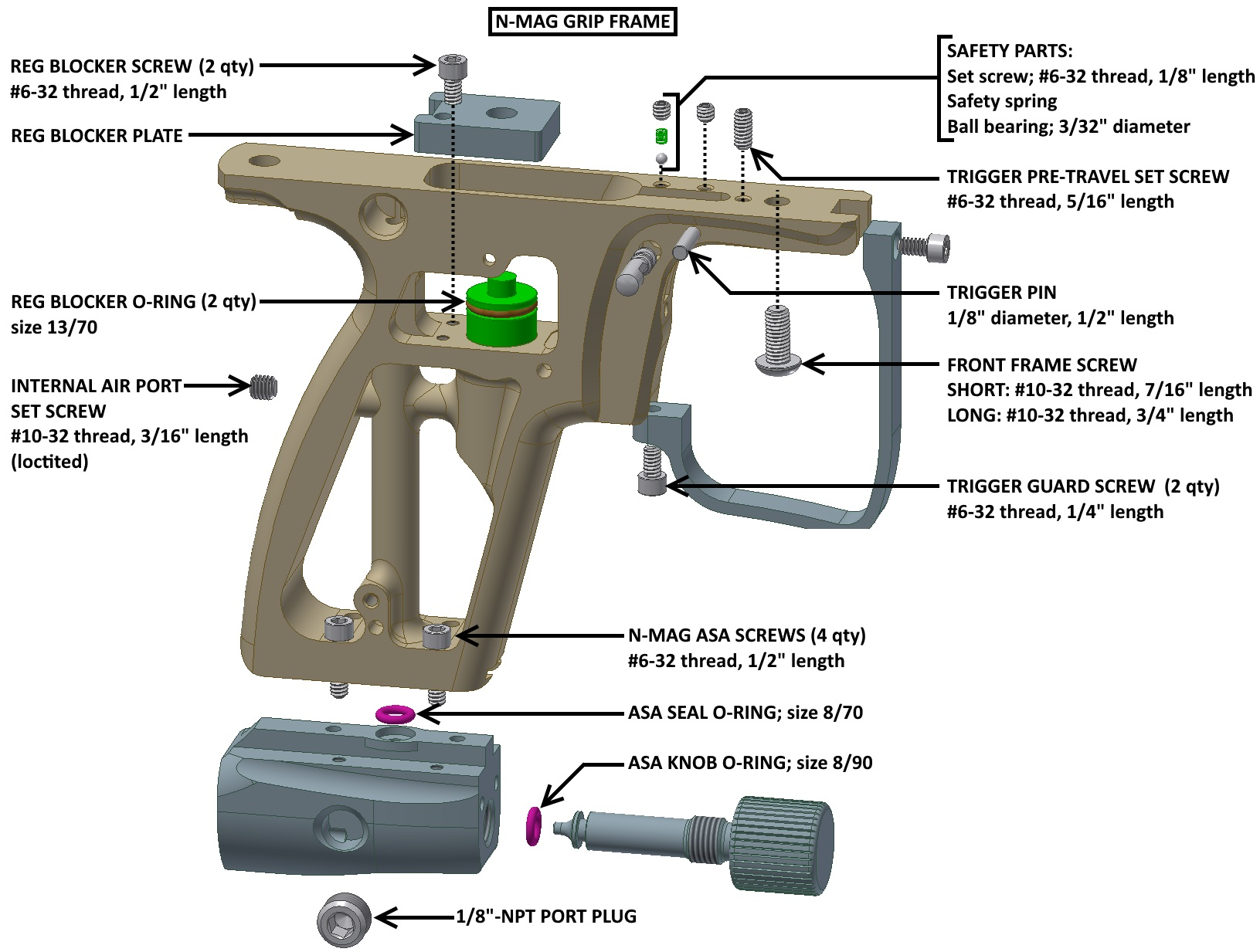 automag parts diagram automotive steering parts diagram nummech - nmag mech grip frame